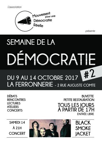 Affiche de la semaine de la Démocratie Octobre 2017